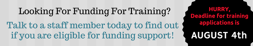 Looking for Funding for Training?  Click Here!