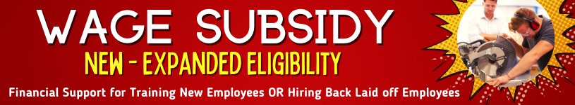 Wage Subsidy Banner